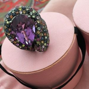 TOUS Multi-Colored Sapphire Ring
